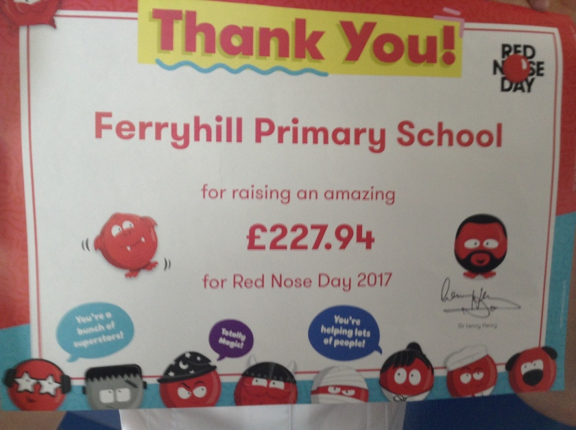 Red Nose Day certificate
