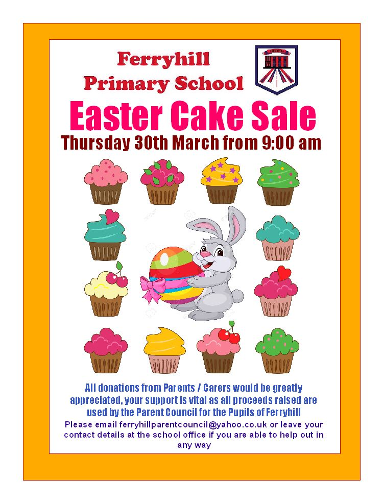 Cake Sale Poster 2017