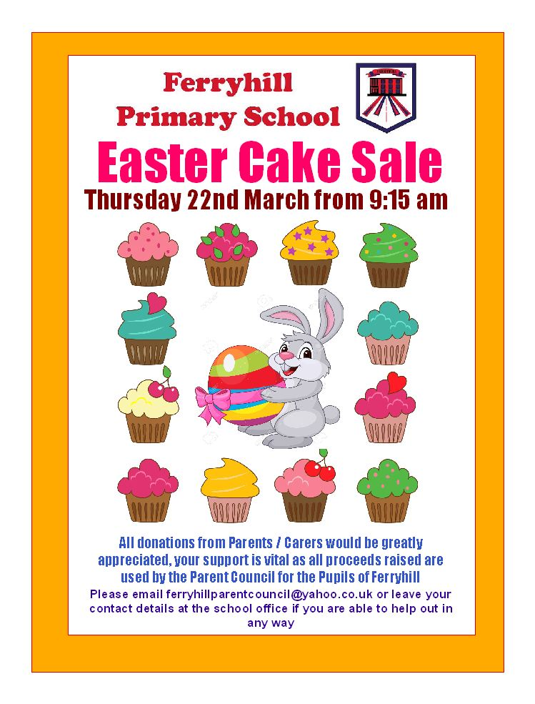 Cake Sale Poster 2018