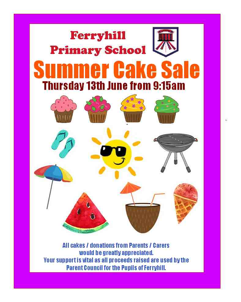 Cake Sale Poster 2019